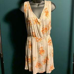 NWOT Free People beige/orange floral dress (5/$95)